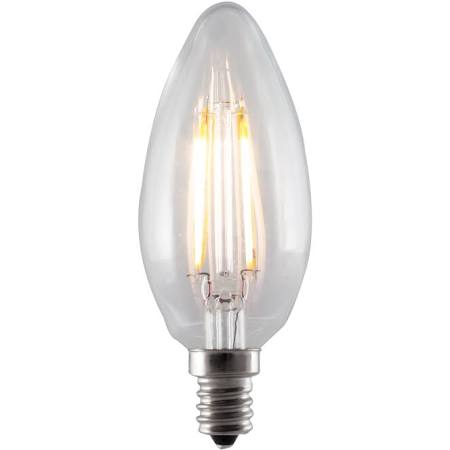 Bulbrite 776663 LED4B11/30K/FIL/E12/2 4W Filaments E12 Base B11 Bulb Clear - NOW 776763