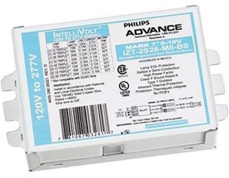 Advance Electronic Dimmable Ballast (2) 26 Watt CFL (IZT2S26M5LD35M)