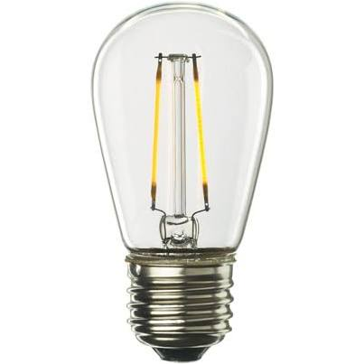 Bulbrite 776651 LED2S14/27K/FIL/2 2W E26 Base S14 Bulb Clear