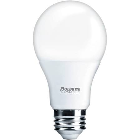 Bulbrite 774009 LED9A19/827/D/2 9W LED A19 2700 E26 120V Dim Energy Star UL Enclosed