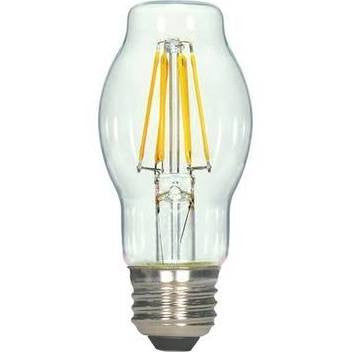 Satco S9268 4.5BT15/CL/LED/E26/27K/120V 4.5W BT15 LED Filament Bulb