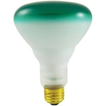 Bulbrite Reflector Wide Flood Halogen Bulb, Green, 75 W