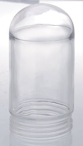 Satco 50-919 Threaded Clear Glass Jelly Jar for Outdoor Light Fixture