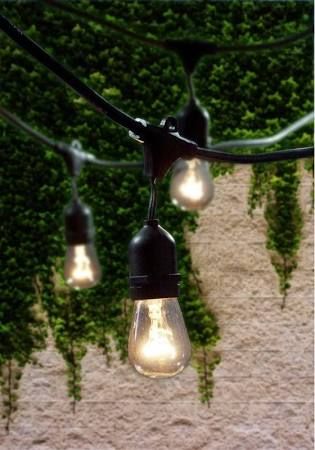 Bulbrite 810002 - Outdoor String Light 48-Feet 15 Light Sockets - Free Shipping