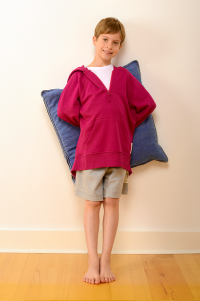 Childrens Bedford Pyjama Shorts in Grey
