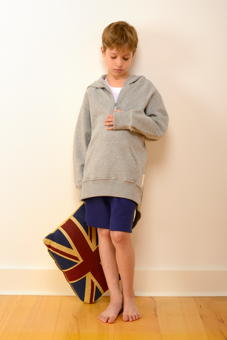 Childrens Breakfast Hoody in Grey