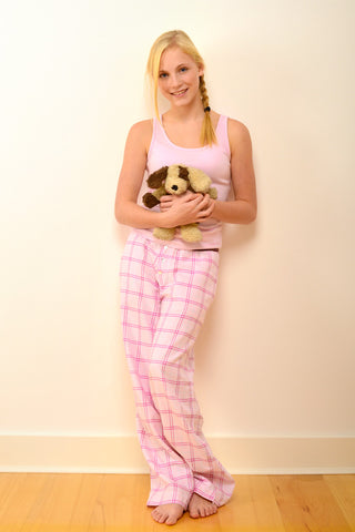 Childrens Cambridge Pyjama Trousers in Pink