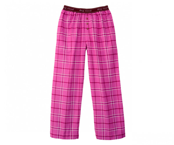 Womens Durham Pyjama Trousers in Magenta