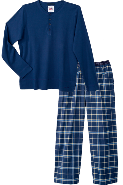Mens Durham Pyjama Set in Blue