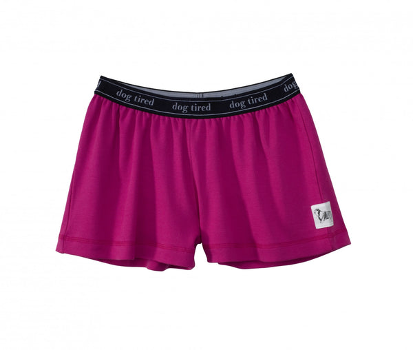 Childrens Ebford Pyjama Shorts in Very Berry