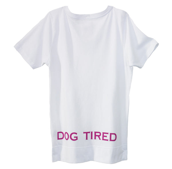 Childrens Knighton Pyjama Tee in White