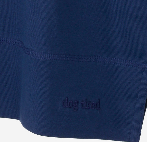 Mens Henley Pyjama Top in Navy