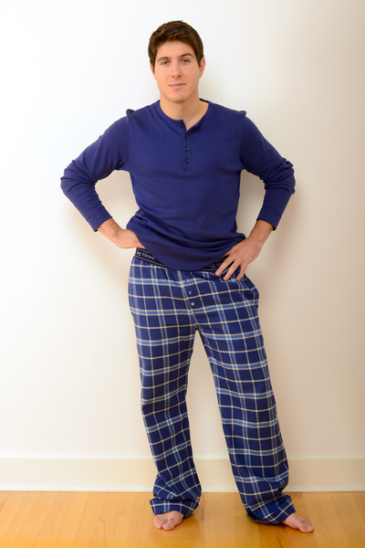 Mens Durham Pyjama Trousers in Blue