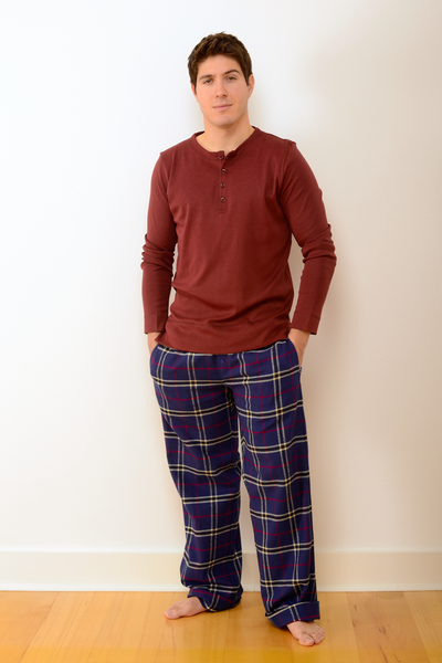 Mens Durham Pyjama Set in Navy