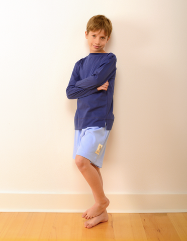 Childrens Bedford Pyjama Shorts in Blue