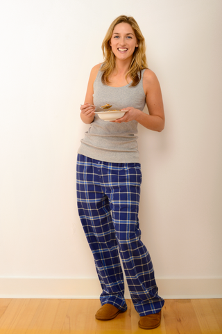 Womens Verwood Pyjama Set in Grey/Blue