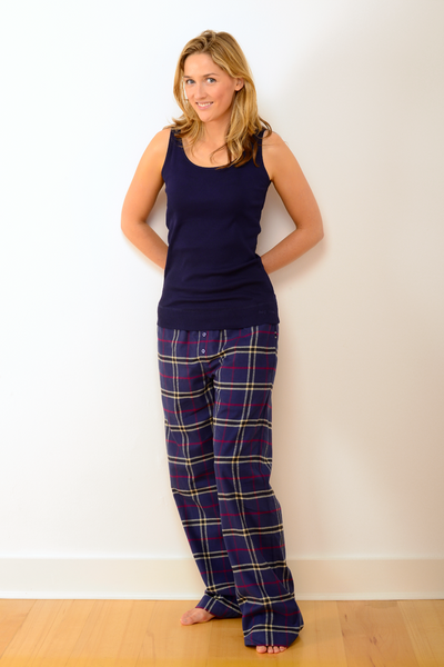 Womens Verwood Pyjama Set with Navy Vest