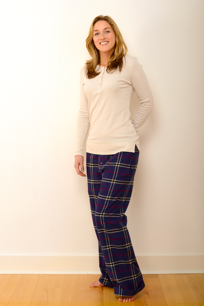 Womens Durham Pyjama Set in Navy