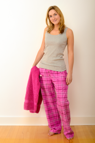 Womens Verwood Pyjama Set in Grey/Pink