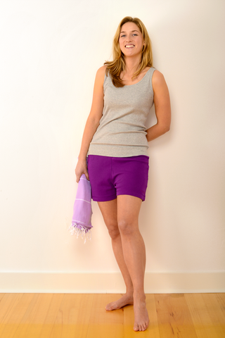 Womens Selby Pyjama Shorts in Plum
