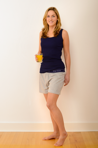Womens Selby Pyjama Shorts in Grey