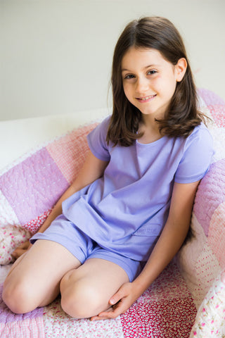 Childrens Newlyn Pyjama Set in Lavender