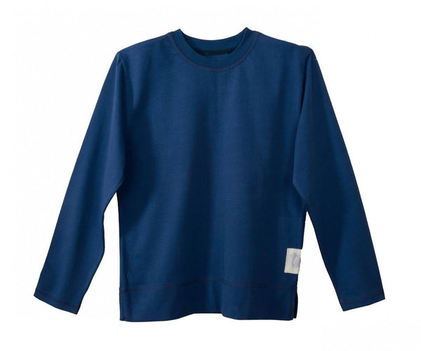 Childrens Upton Pyjama Top in Navy