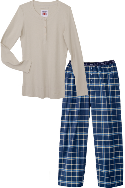 Womens Durham Pyjama Set in Blue