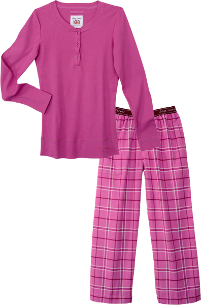 Womens Durham Pyjama Set in Magenta