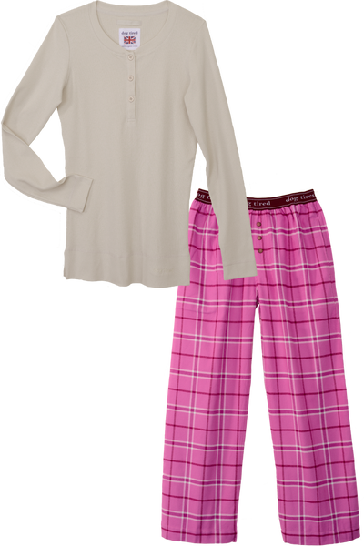 Womens Durham Pyjama Set in Moonbeam