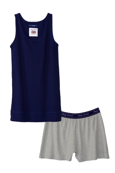 Womens Selby Pyjama Set in Navy