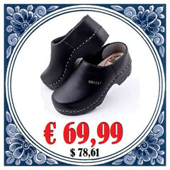 Leather Clogs Black
