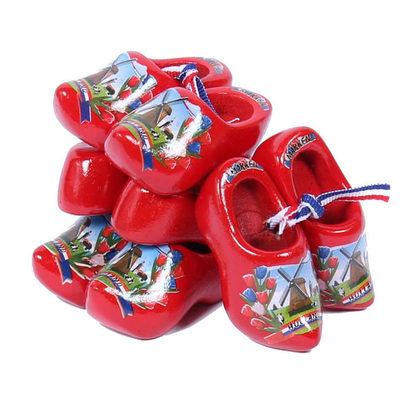 4 Souvenir Clogs, Red, 6 Cm / 2.36 Inch