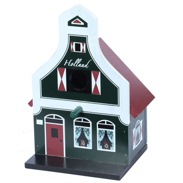 Birdhouse, Traditional Dutch House, Green