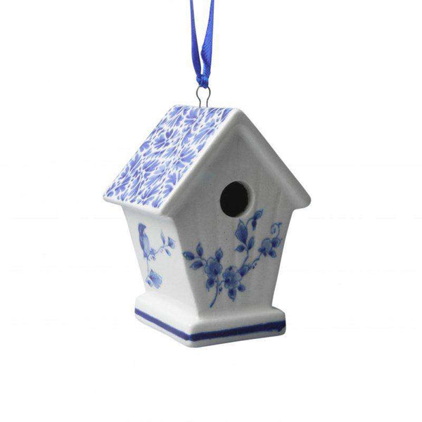 Christmas Ornament, Delft Blue, Birdhouse