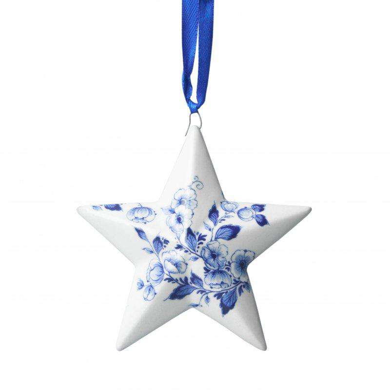 Christmas Ornament, Delft Blue, Christmas Star