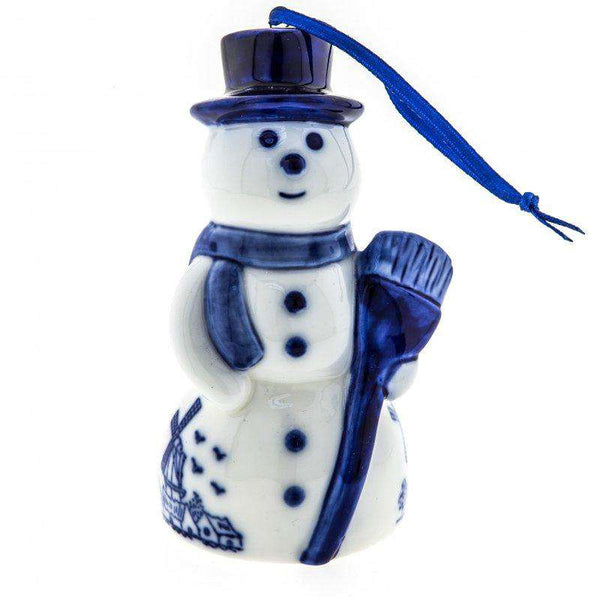 Christmas Ornament, Delft Blue, Snowman