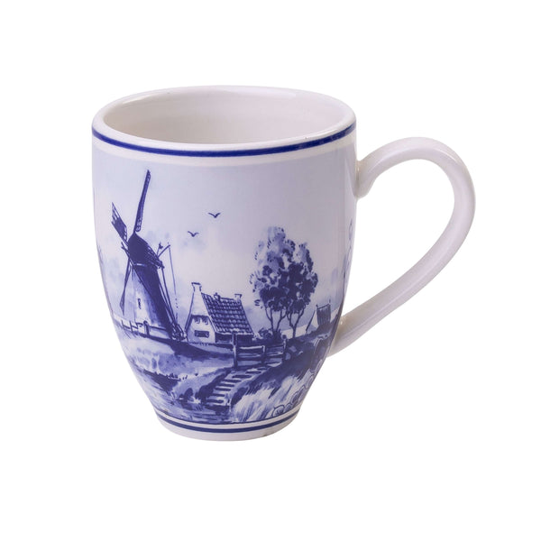 Delft Blue Senseo Mug with a Windmill