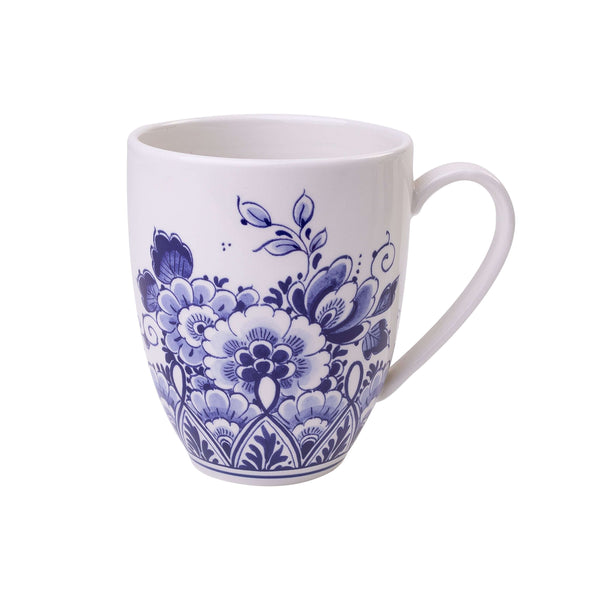 Delft Blue Senseo Mug with Flower Design