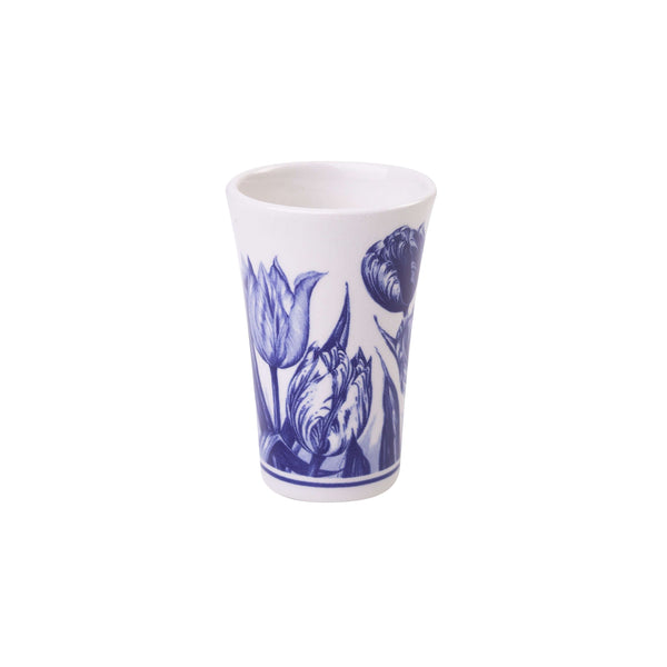 Delft Blue Shotglass with Tulips
