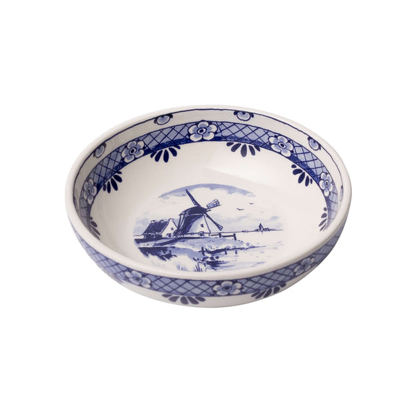 Delft Blue Tapas Bowl with a Windmill, Medium