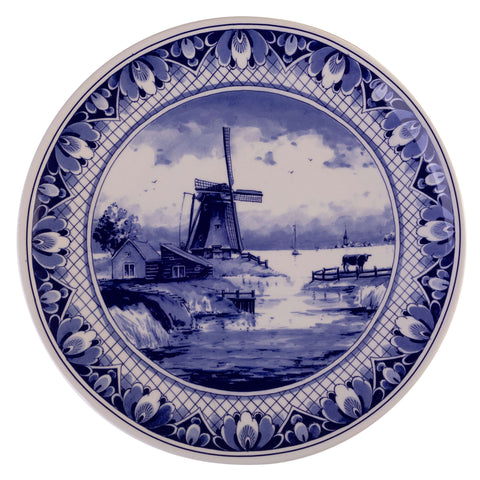 Wall Plate with a Typical Dutch Landscape, Small