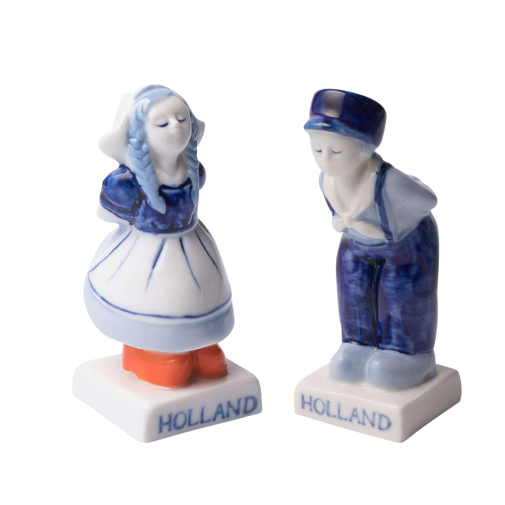 Delft Blue Kissing Couple Salt and Pepper Shaker