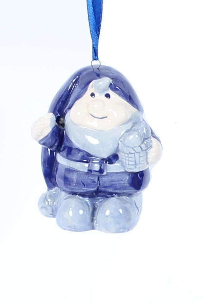 Christmas Ornament, Delft Blue, Christmas Gnome - Woodenshoefactory Marken