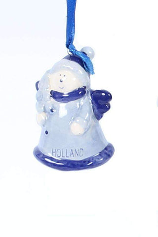 Christmas Ornament, Delft Blue, Angel - Woodenshoefactory Marken