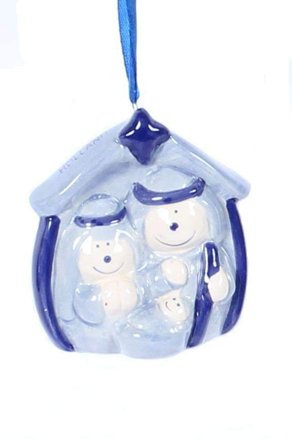 Christmas Ornament, Delft Blue, Nativity Scene - Woodenshoefactory Marken