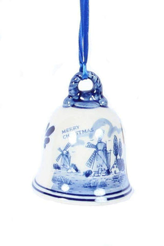 Christmas Ornament, Delft Blue, Big Bell - Woodenshoefactory Marken