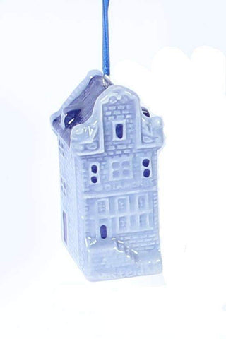 Christmas Ornament, Delft Blue, Canal House - Woodenshoefactory Marken