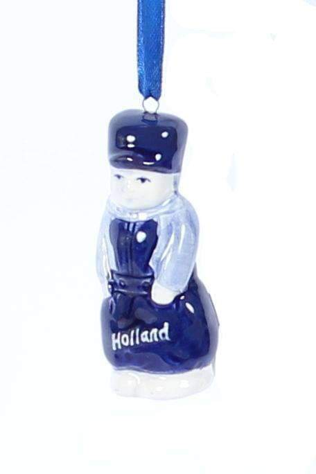 Christmas Ornament, Delft Blue, Dutch Guy - Woodenshoefactory Marken