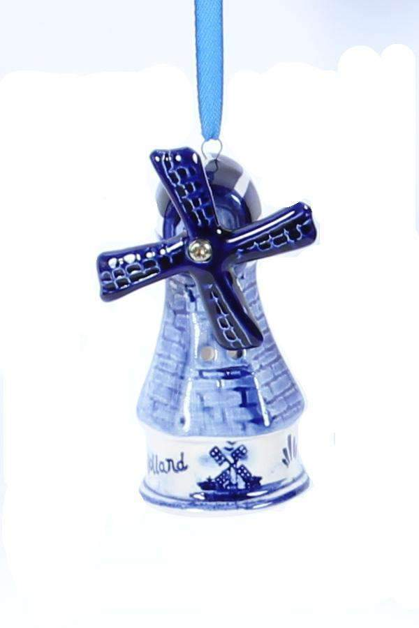 Christmas Ornament, Delft Blue, Windmill 3 - Woodenshoefactory Marken